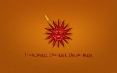 unbowed unbent
